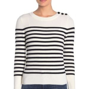 FRAME Striped Merino Wool Pullover Sweater Size M